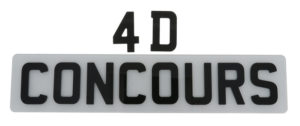 4D Number Plate
