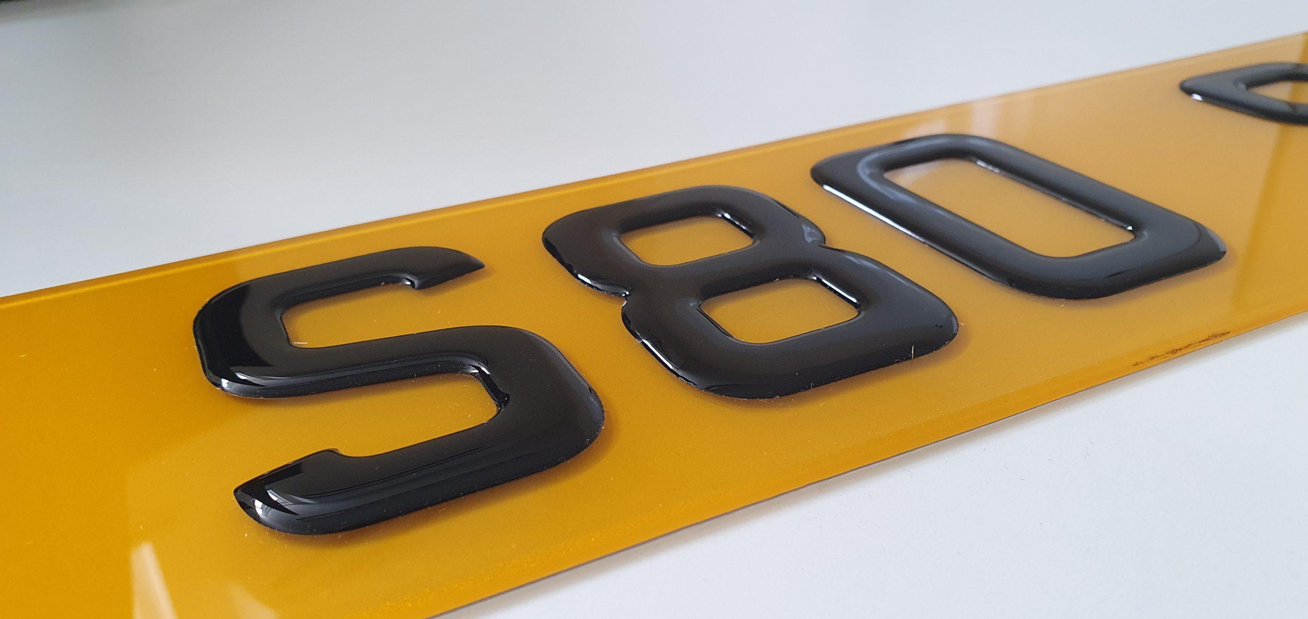 3D Gel Number Plates