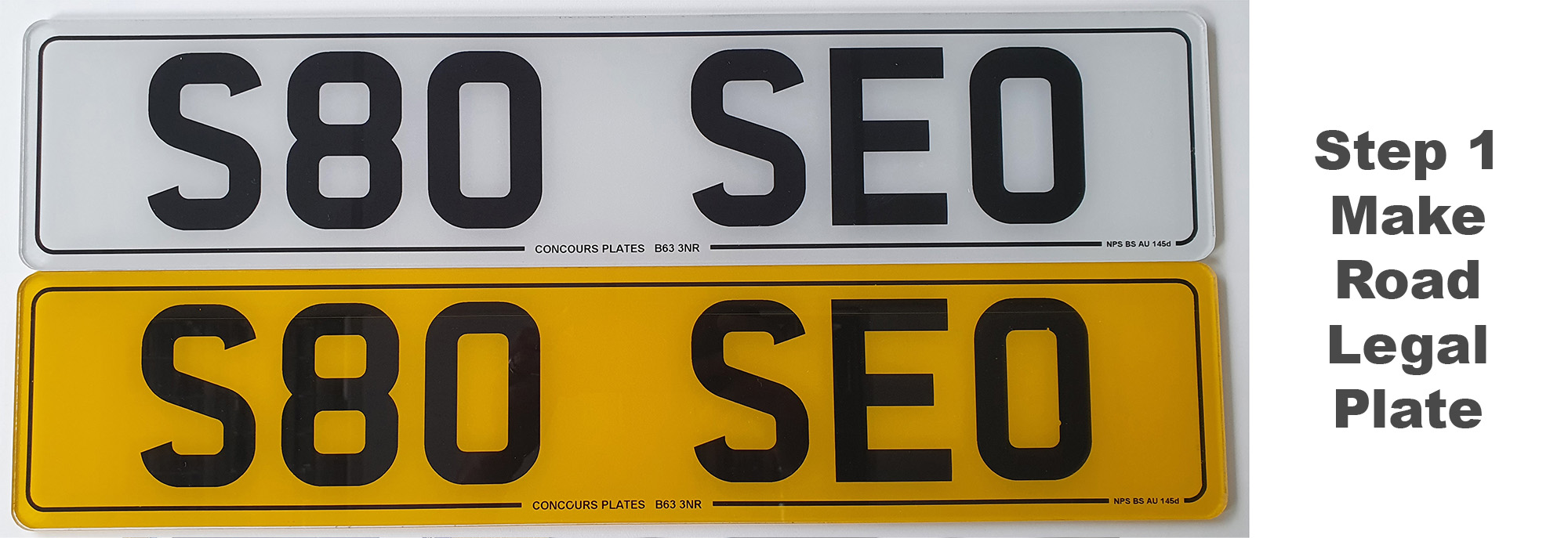 making road legal 3D 4D number plates 1