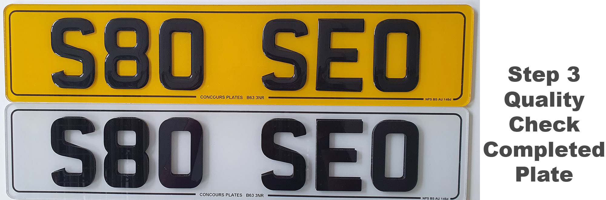 making road legal 3D 4D number plates 3