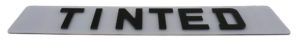 tinted number plates