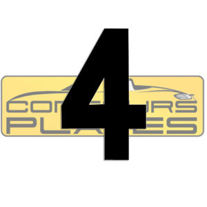 Number 4 4D Acrylic Number Plate Letters Digits