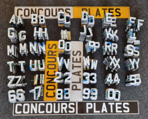 4D Acrylic Number Plate Letters