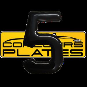 Number 5 3D Gel Resin Number Plate Letters Digits