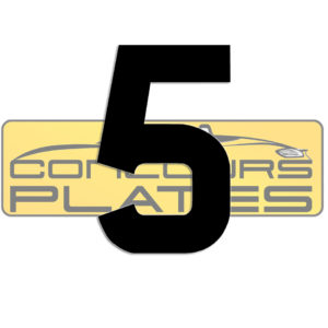Number 5 4D Acrylic Number Plate Letters Digits