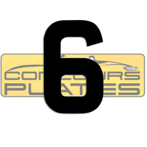 Number 6 4D Acrylic Number Plate Letters Digits