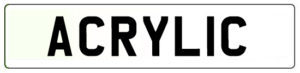 Acrylic Number Plate