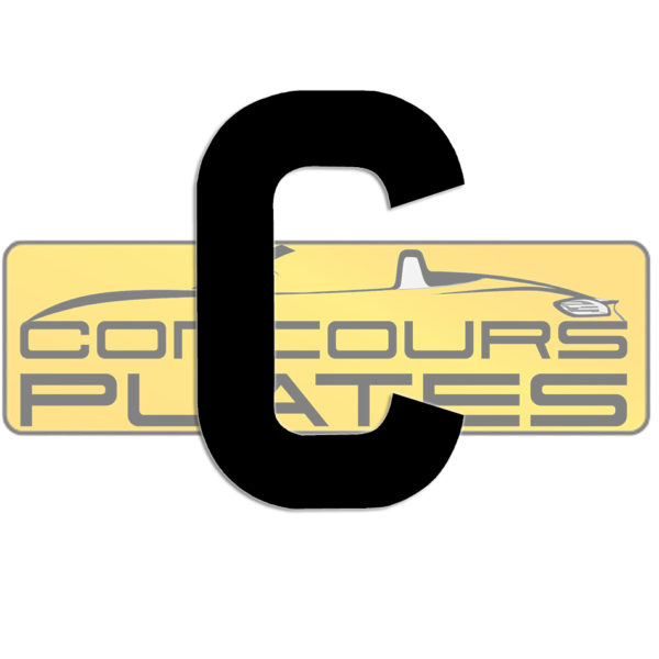 Letter C 4D Acrylic Number Plate Letters Digits