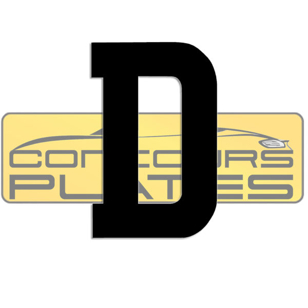 Letter D 4D Acrylic Number Plate Letters Digits