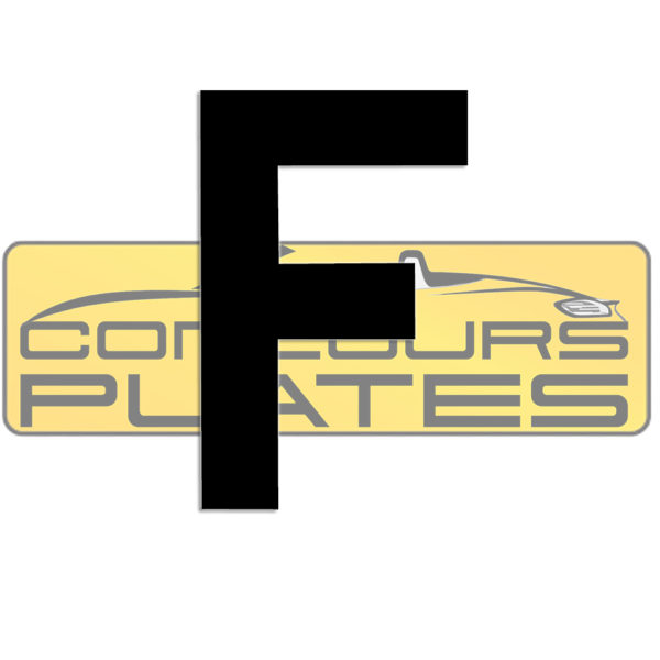Letter F 4D Acrylic Number Plate Letters Digits