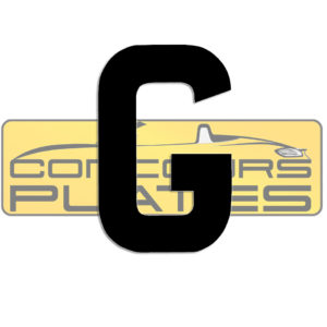 Letter G 4D Acrylic Number Plate Letters Digits