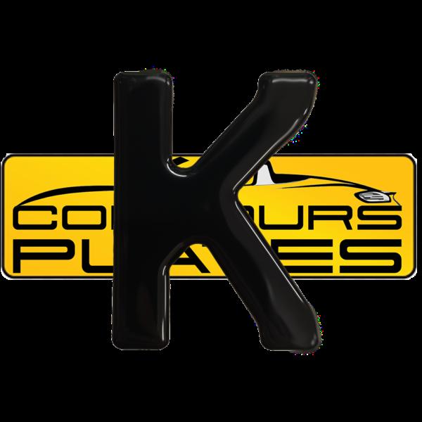 Letter K 3D Gel Resin Number Plate Letters Digits