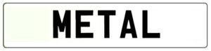 Metal Number Plate