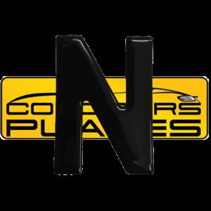 Letter N 3D Gel Resin Number Plate Letters Digits