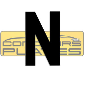 Letter N 4D Acrylic Number Plate Letters Digits