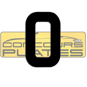 Letter O 4D Acrylic Number Plate Letters Digits