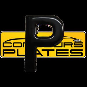 Letter P 3D Gel Resin Number Plate Letters Digits