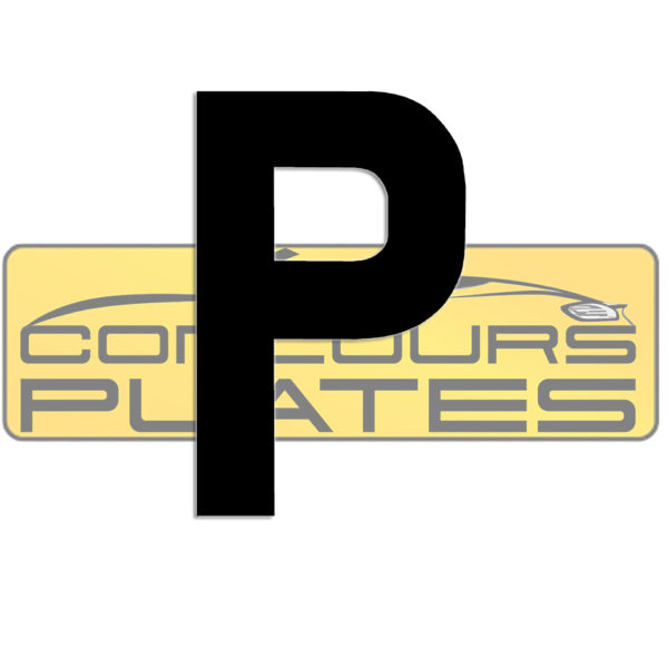 Letter P 4D Acrylic Number Plate Letters Digits