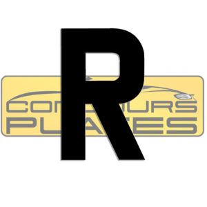 Letter R 4D Acrylic Number Plate Letters Digits