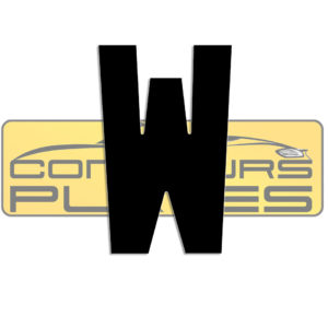 Letter W 4D Acrylic Number Plate Letters Digits
