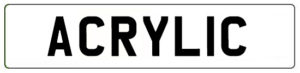 Acrylic Car Number Plate Supplier