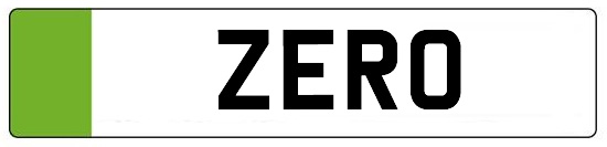 zero emmission car number plates green